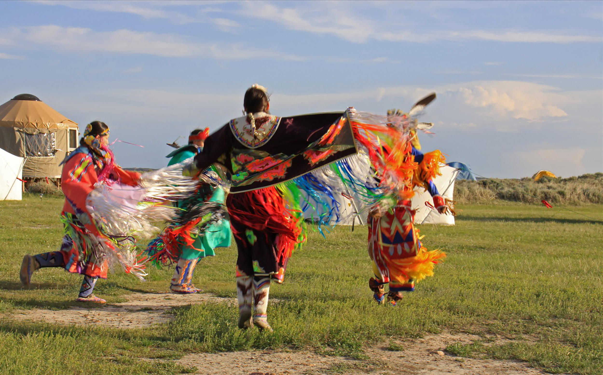 Fort Belknap Dancers photo by Michael Connell